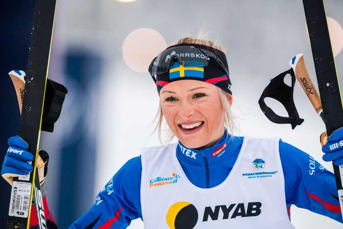 Frida Karlsson under Gällivarepremiären i november.