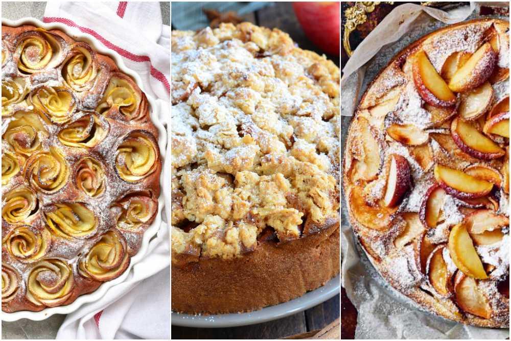 Äppelrospaj, äppelkaka med crunch och äppelkladdkaka.