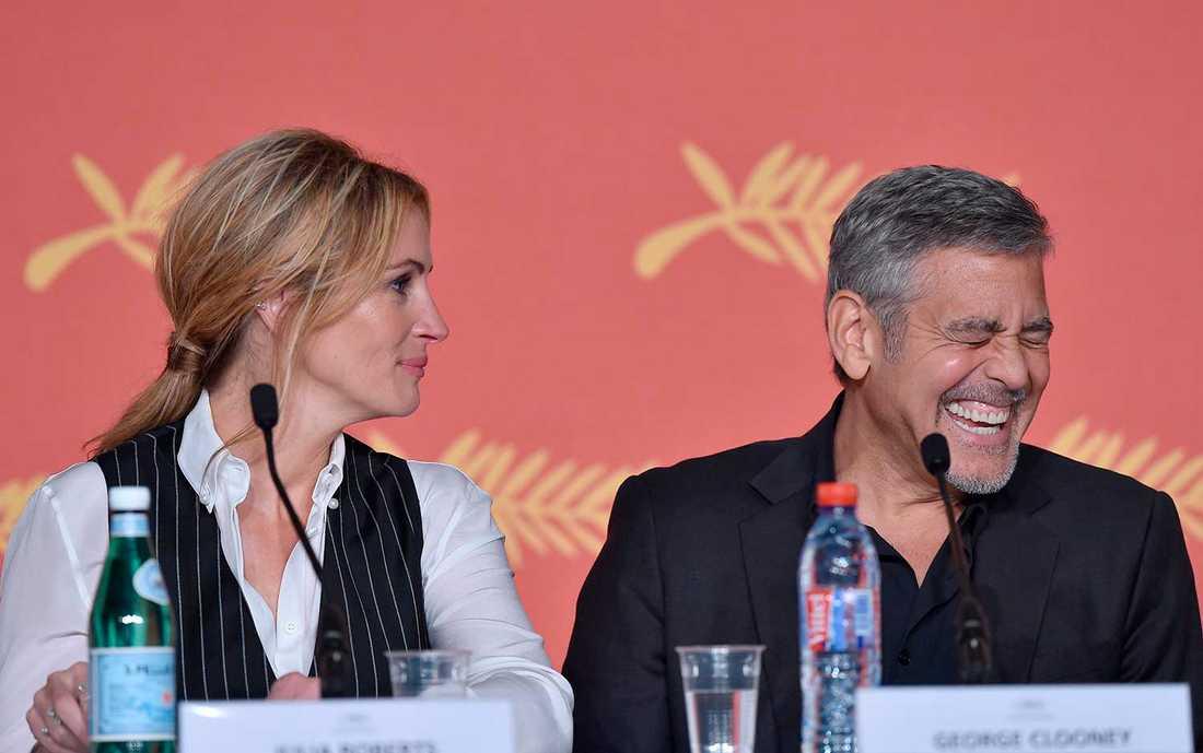 Julia Roberts och George Clooney i Cannes.