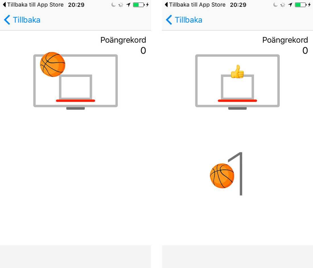 Basketspelet i Messenger.