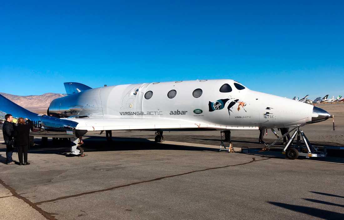 Virgin Galactics rymdskepp för rymdturism.