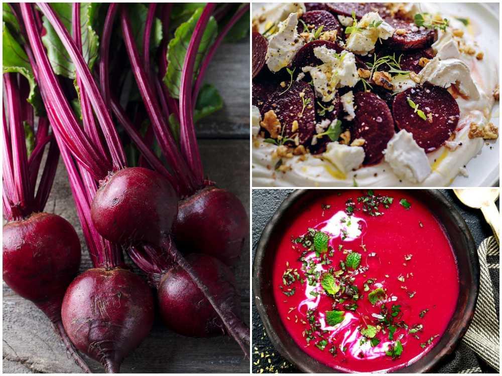 Soppa och sallad blir extra gott med rödbetor.