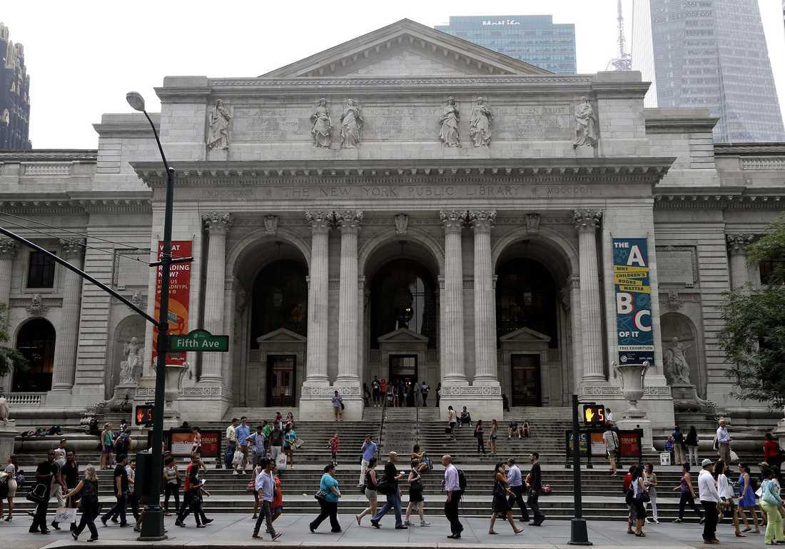 Här på New York City Public Library var det meningen att Carrie skulle gifta sig med Mr Big i Sex and the City.