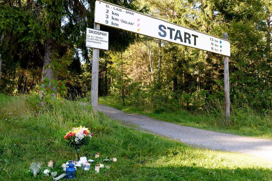 Motionsspåret i Runby där Ida mördades.