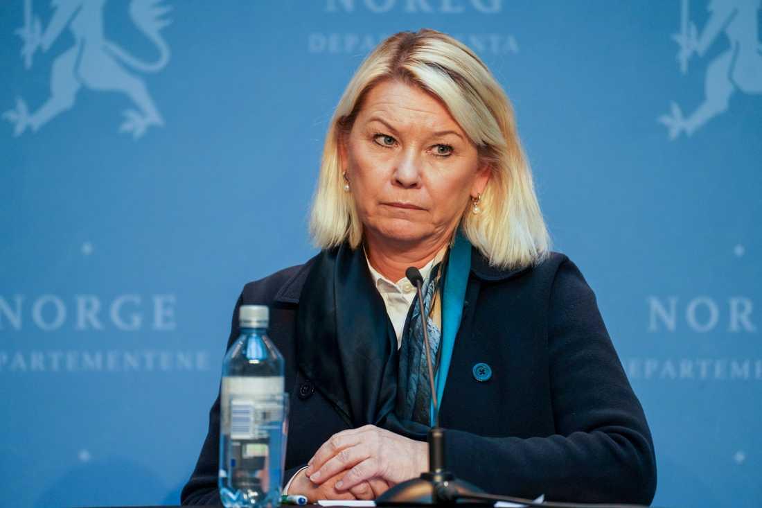 Norges justitieminister Monica Mæland. Arkivbild.,