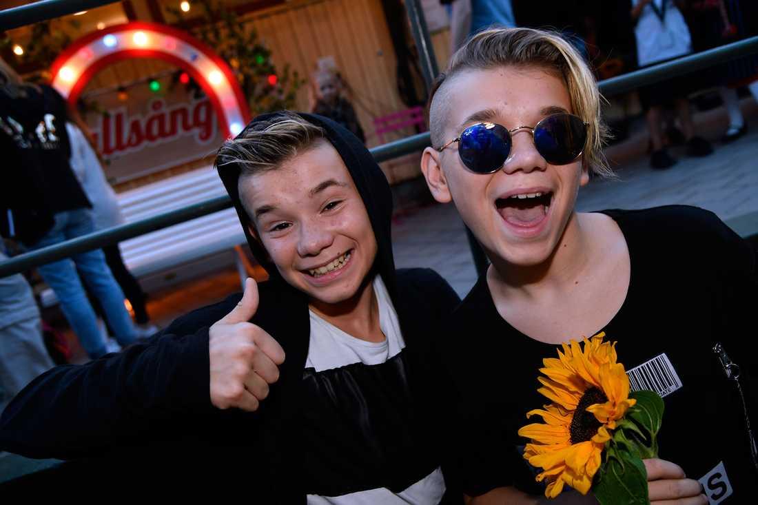 """Marcus & Martinus efter """"Allsång på Skansen""""."""