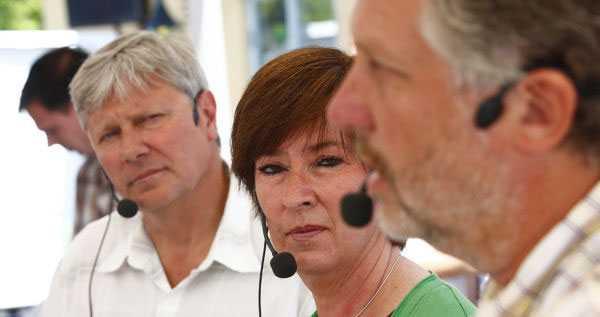 Lars Ohly, Mona Sahlin och Peter Eriksson presenterade sitt förslag för ny fastighetsskatt på måndagen, under Almedalsveckans andra dag.