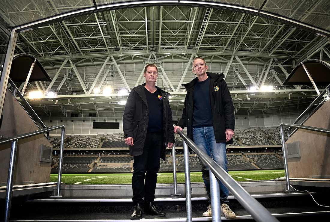 Mats Jonsson och Göran Rickmer, säkerhetsansvariga på Djurgården respektive Hammarby.