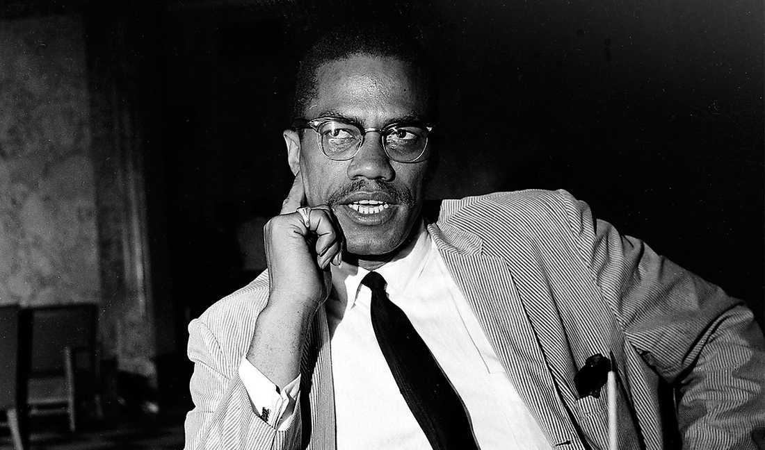 Malcolm X ett år innan han blev mördad 1965.