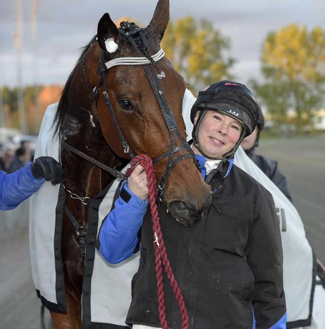 M.T.Joinville tillsammans med tränaren Susanne Richter.