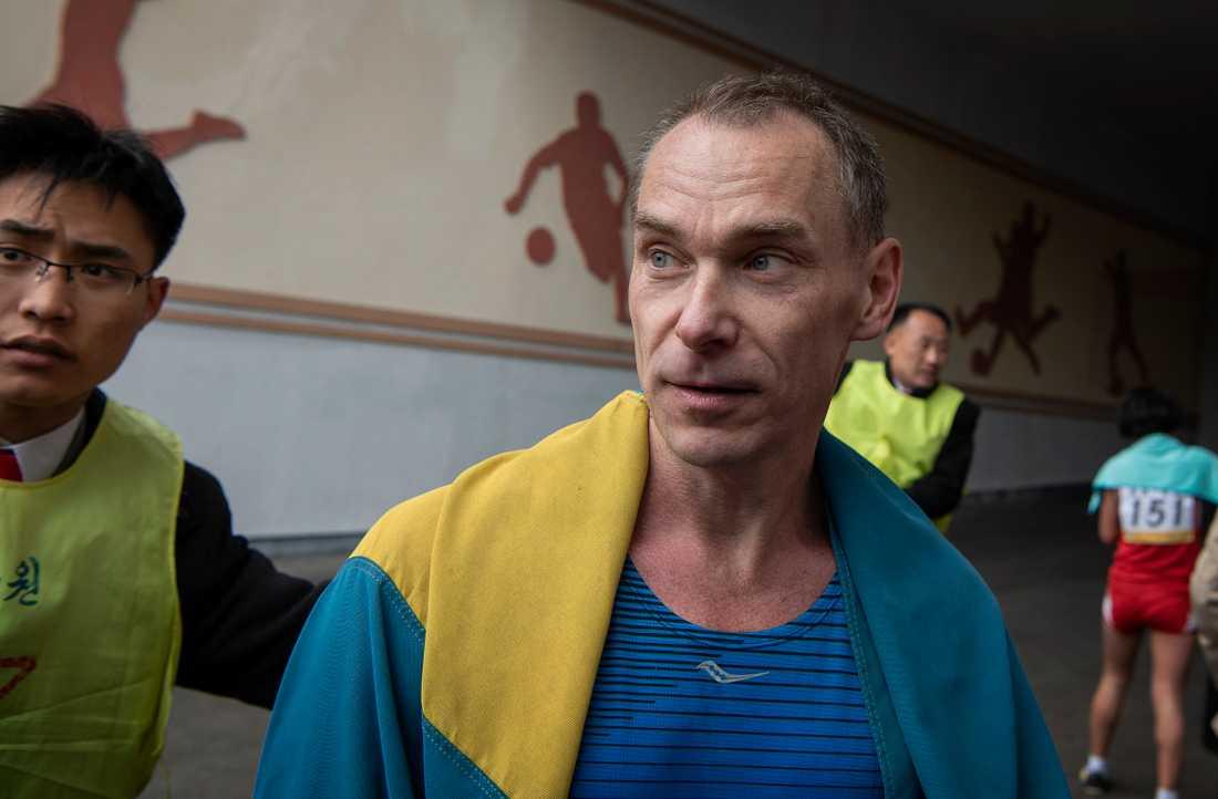 Sven Thelin är en av tre svenskar som bor i Nordkorea