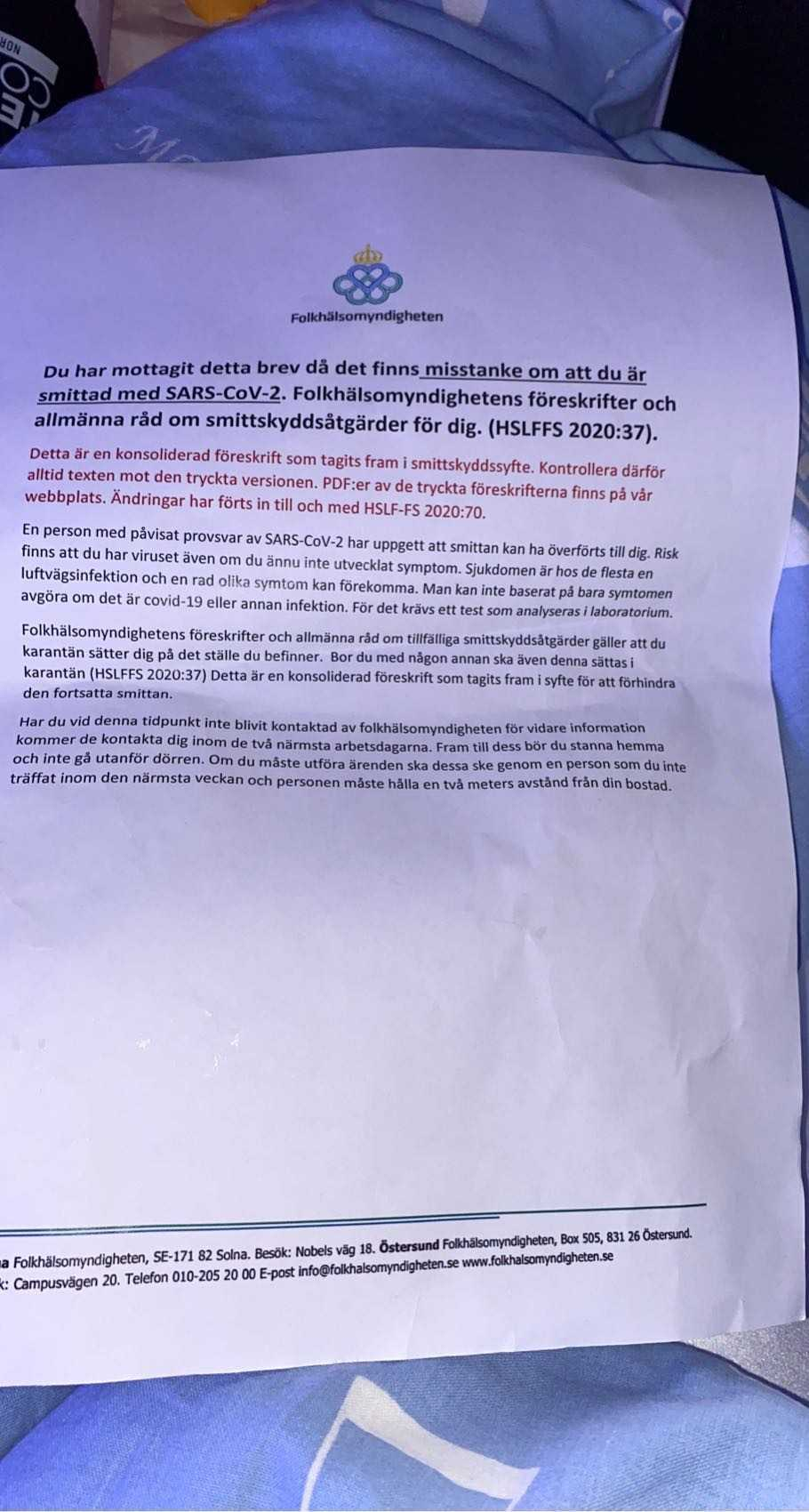 Det här förfalskade brevet hamnade i Luleå-familjens brevlåda häromdagen.