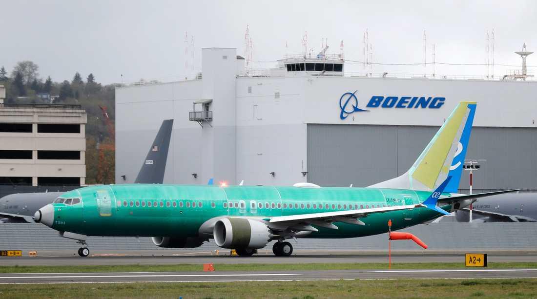 Modellen 737 Max 8 fick flygförbud efter två allvarliga olyckor. Arkivbild.