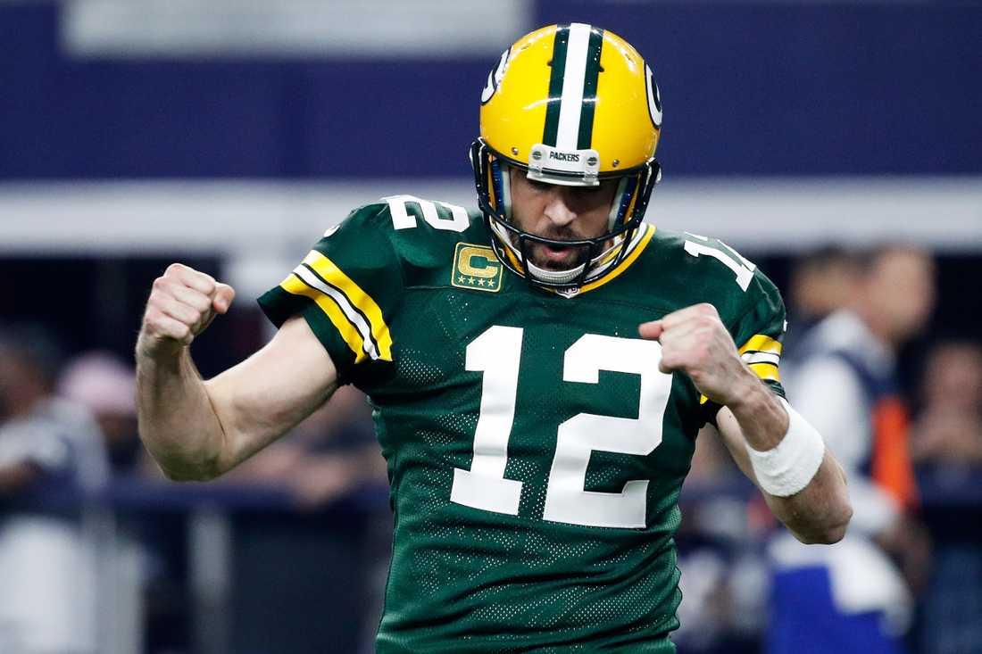 Green Bay Packers och Aaron Rodgers är oftast med i toppen och slåss om titeln.