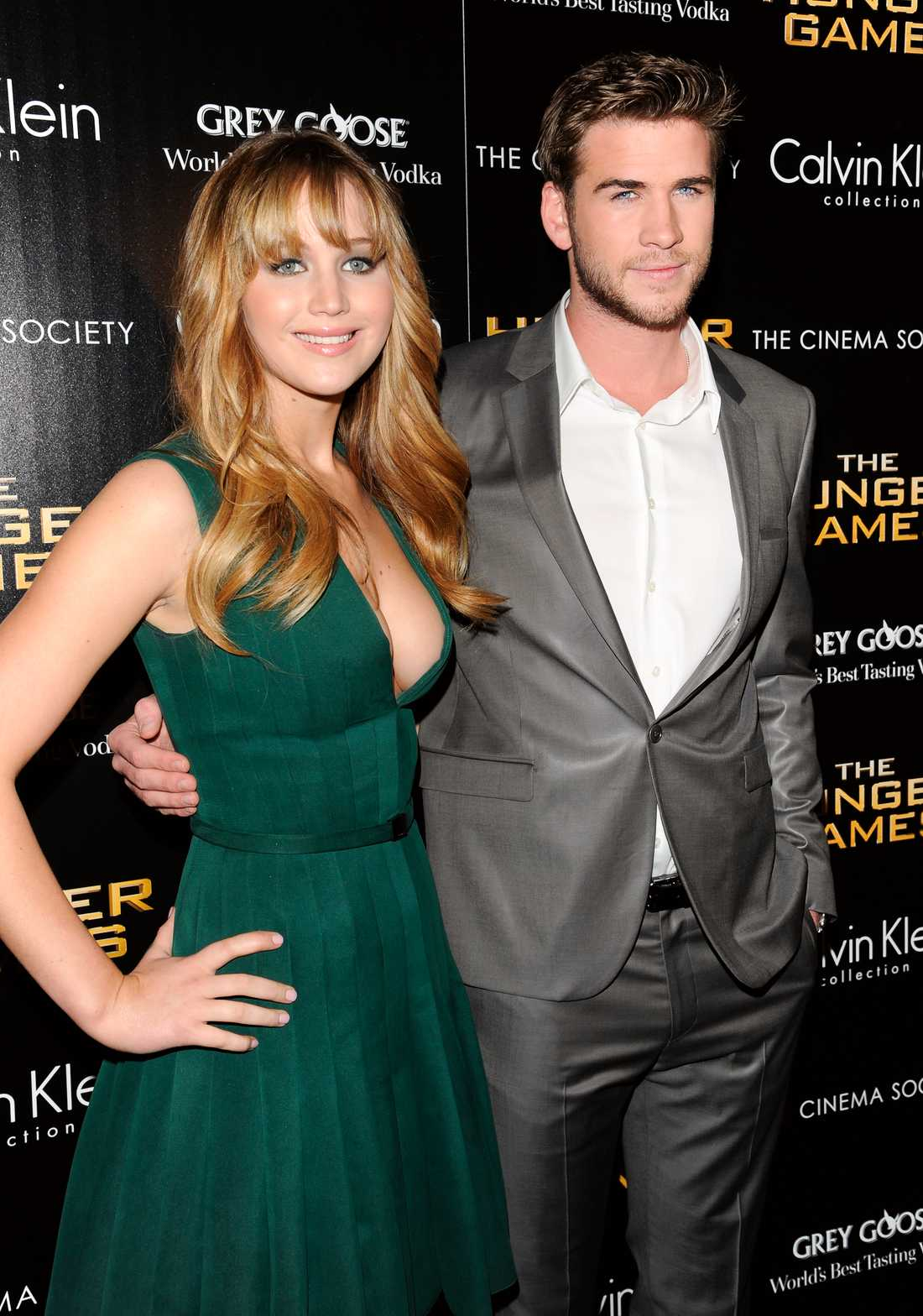 "Liam och ""Hunger games""-kollegan Jennifer Lawrence."