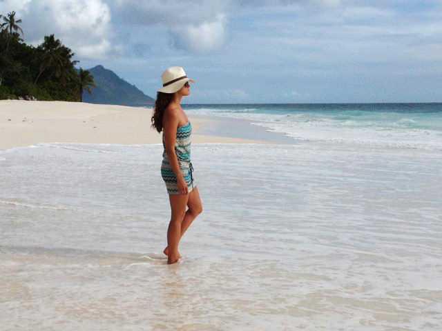 Madeleine på Seychellerna