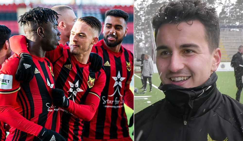 Till höger: ÖFK:s nyförvärv Bakr Abdellaoui.