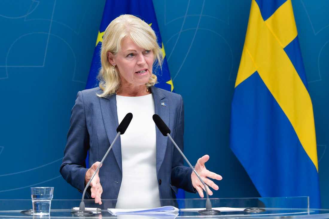 Nordenminister Anna Hallberg (S) är orolig över den försämrade nordiska relationen. Arkivbild.