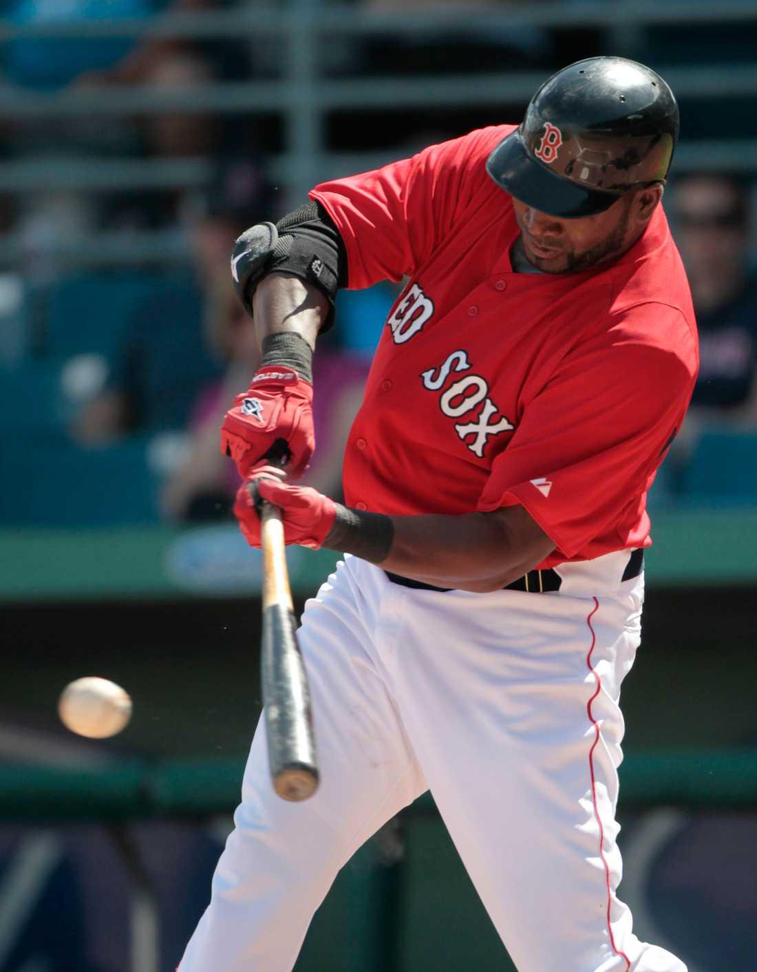 David Ortiz i Red Sox-tröjan.