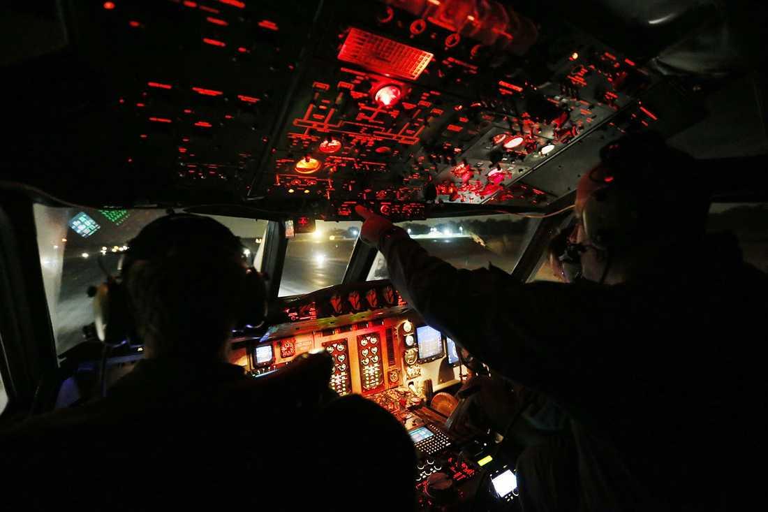 Ombord på Orion-plan som deltog i sökandet.