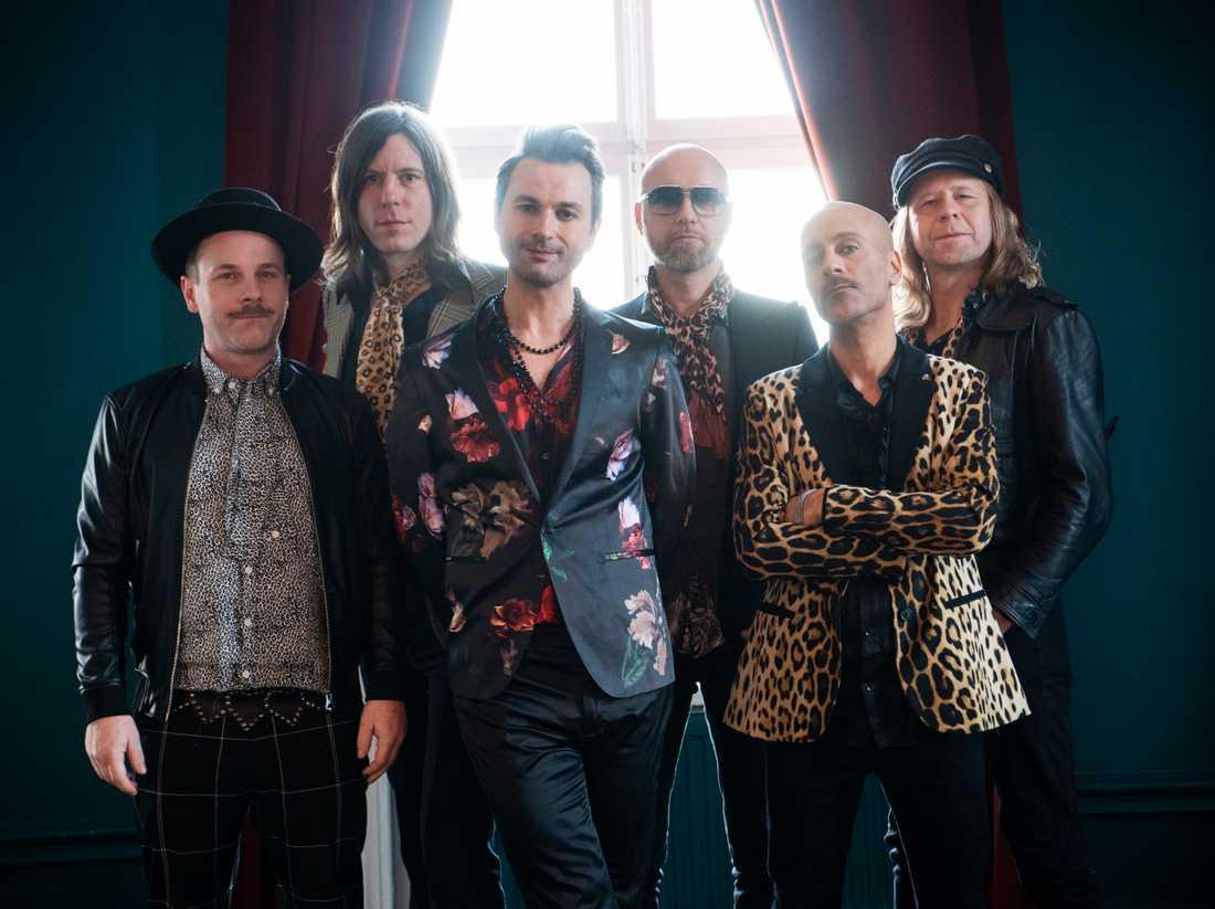 Från vänster: Sylvester Schlegel, Martin Axén, Ola Salo, Jens Andersson, Lars Ljungberg och Mikael Jepson i The Ark.