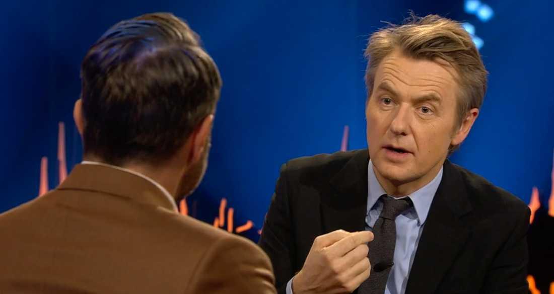 """Absurt"", svarar Fredrik Skavlan i ""Skavlan""."