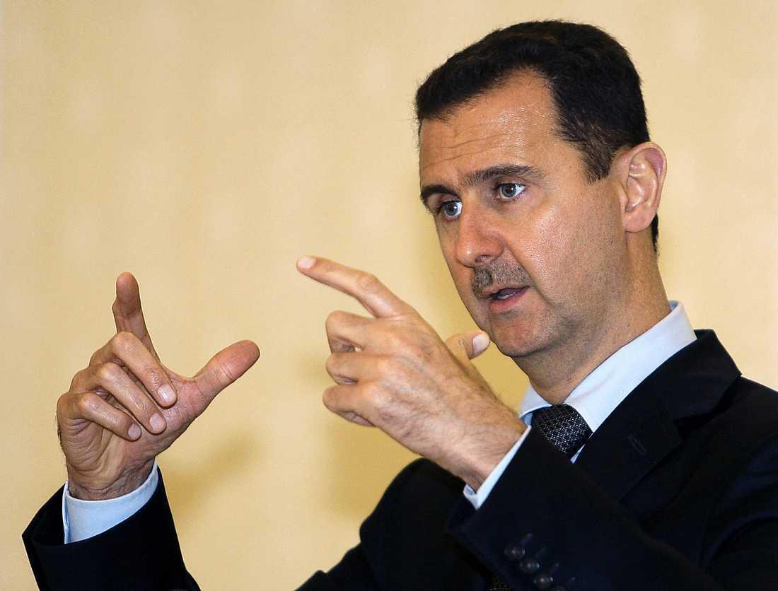 al-Assad, president i Syrien.