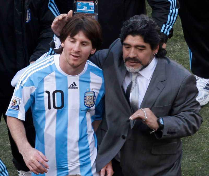 Maradona och Messi.