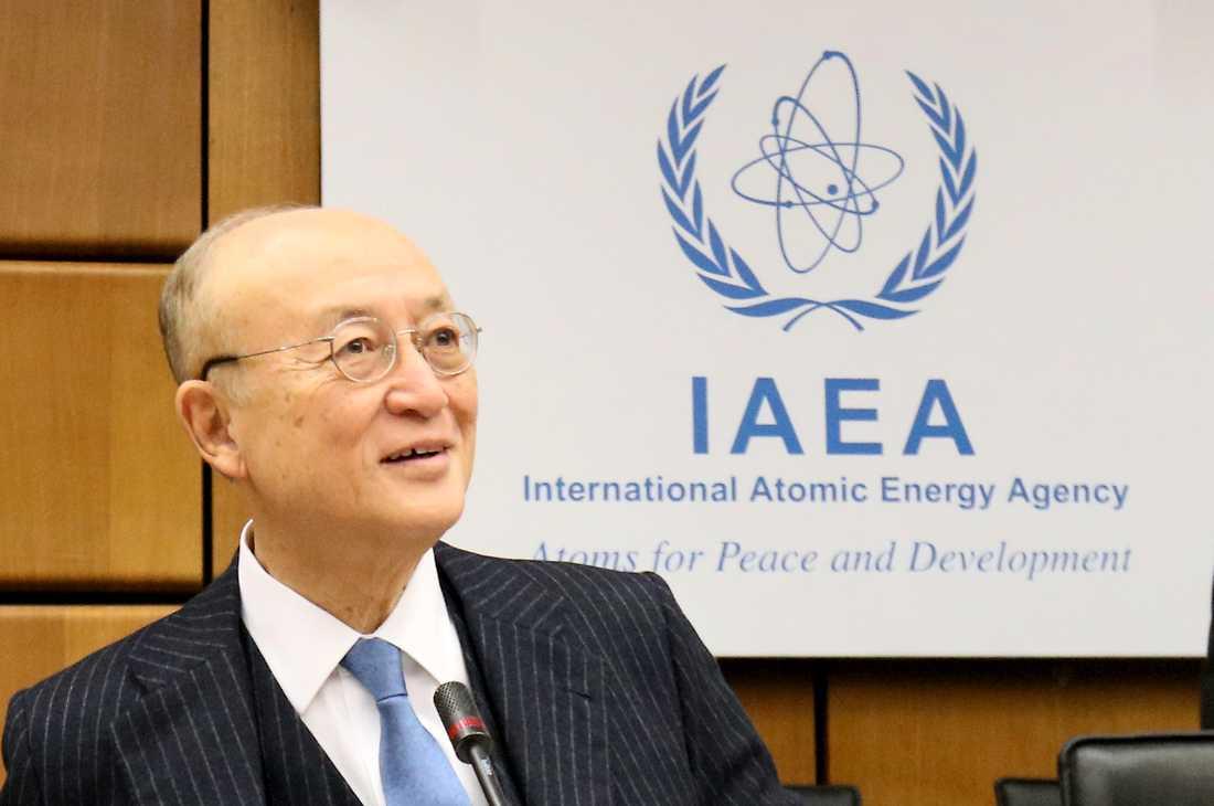 Yukika Amano, chef för det internationella atomenergiorganet IAEA. Arkivbild.