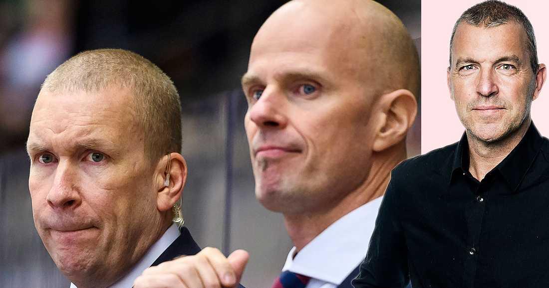 Petter Lasu Nilsson (mitten) tar över som ny huvudtränare i Luleå efter Stefan Nilsson (vänster).