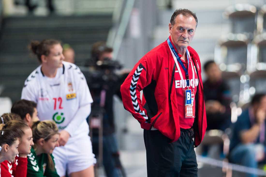 Serbiens förbundskapten Ljubomir Obradovic.