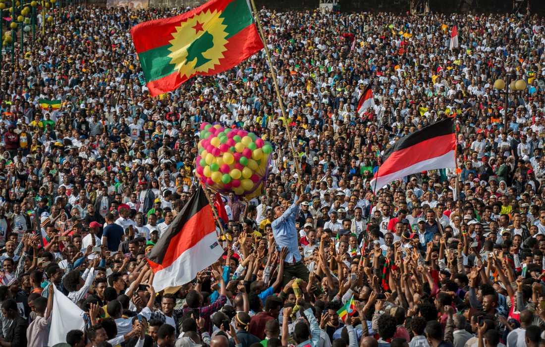 När Abiy Ahmed kom till makten hyllades han som en frälsare och många etiopier kände hopp om framtiden. Nu har jublet kommit av sig. Arkivbild.