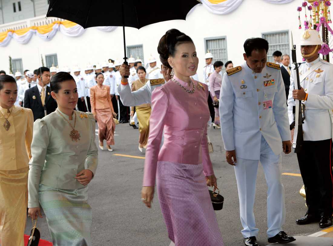 Prinsessan Ubolratana vid det svenska kungaparets besök i Thailand 2006.