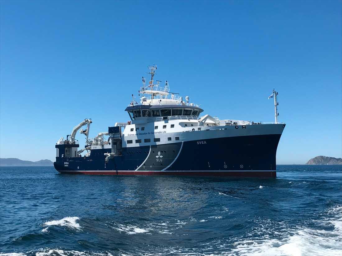 SLU:s forskningsfartyg Svea. Arkivbild.
