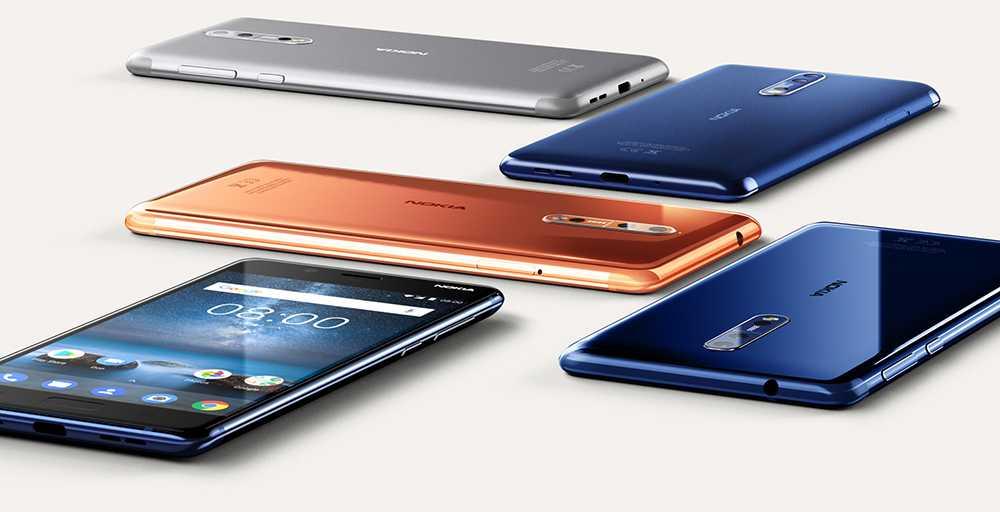 Nokia 8 kommer i fyra olika färger.