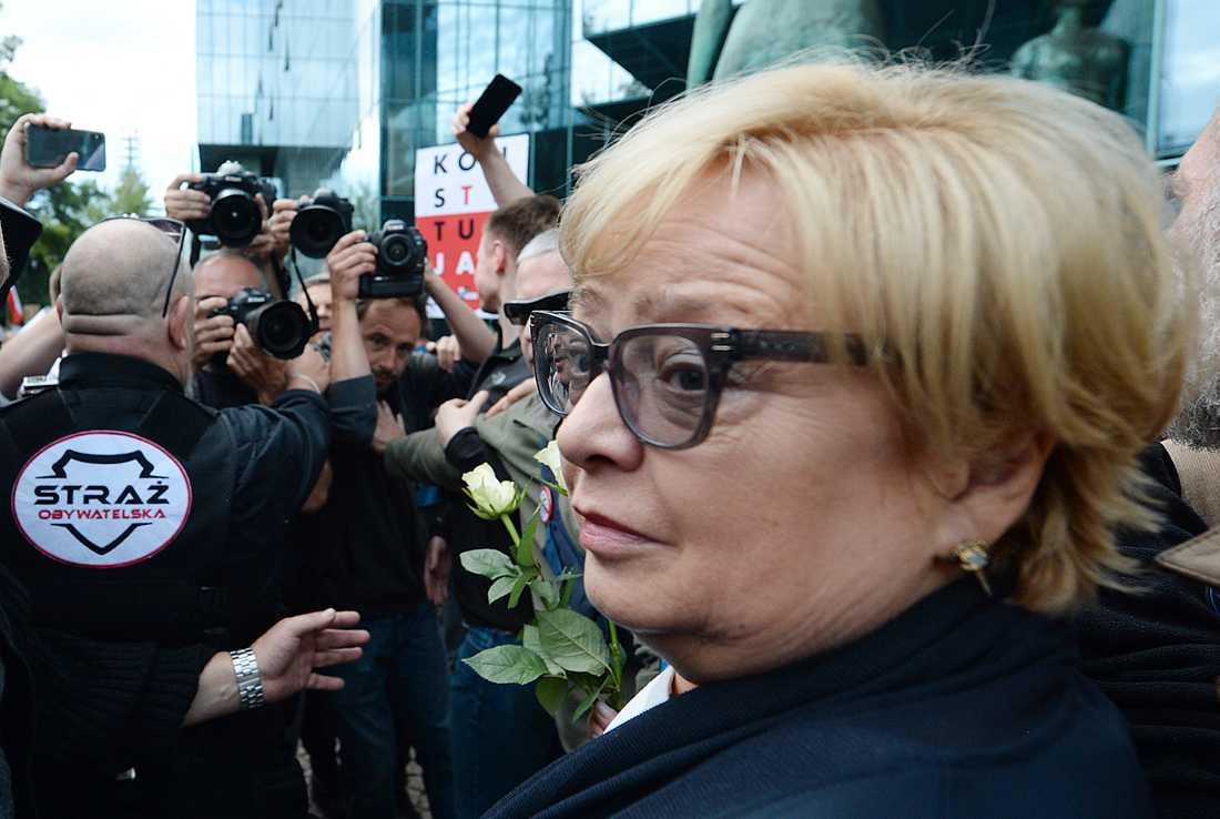 Malgorzata Gersdorf tvingades avgå som chefsdomare i Polens högsta domstol efter en lagändring som sänkte den påtvingade pensionsåldern i HD. Arkivbild.