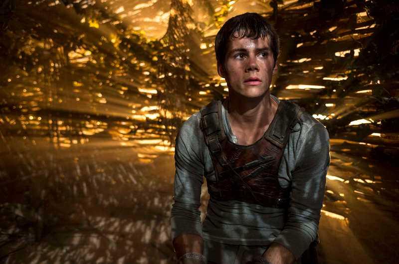 """Dylan O'Brien spelar huvudrollen som Thomas i """"Maze runner""""."""