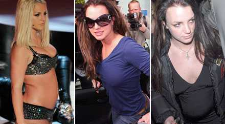 Britney Spears har enligt källor pendlat nära tio kilo i vikt bara det senaste året. Här foton från september 2007, jan 2008 och februari 2008.