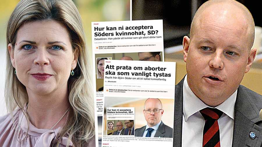 Att Björn Söder inte förstår allvaret i vad abortmotstånd gör mot kvinnor utgör ett hot mot kvinnors liv och hälsa. Jag insinuerar inte att det är kvinnohat, jag säger det väldigt klart och tydligt: det är rent kvinnohat. Slutreplik från Sofia Jarl.