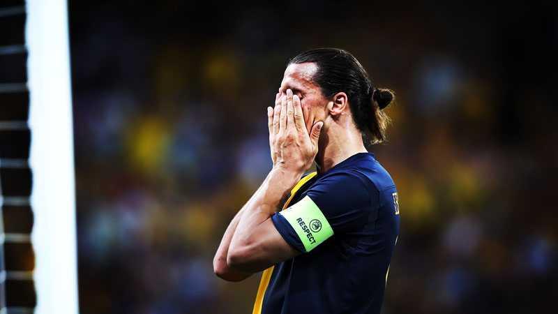 Zlatan Ibrahimovic är besviken.