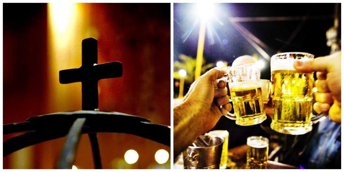 På måndag öppnar St Thomas's Church i Norwich sin pub. (Fotona är exempelbilder).