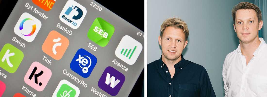 Daniel Kjellén och Fredrik Hedberg startade succéappen Tink och är idag CEO respektive CTO.