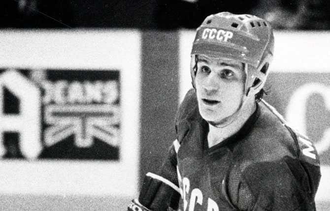 En ung Sergej Makarov. Bilden är från 1981.