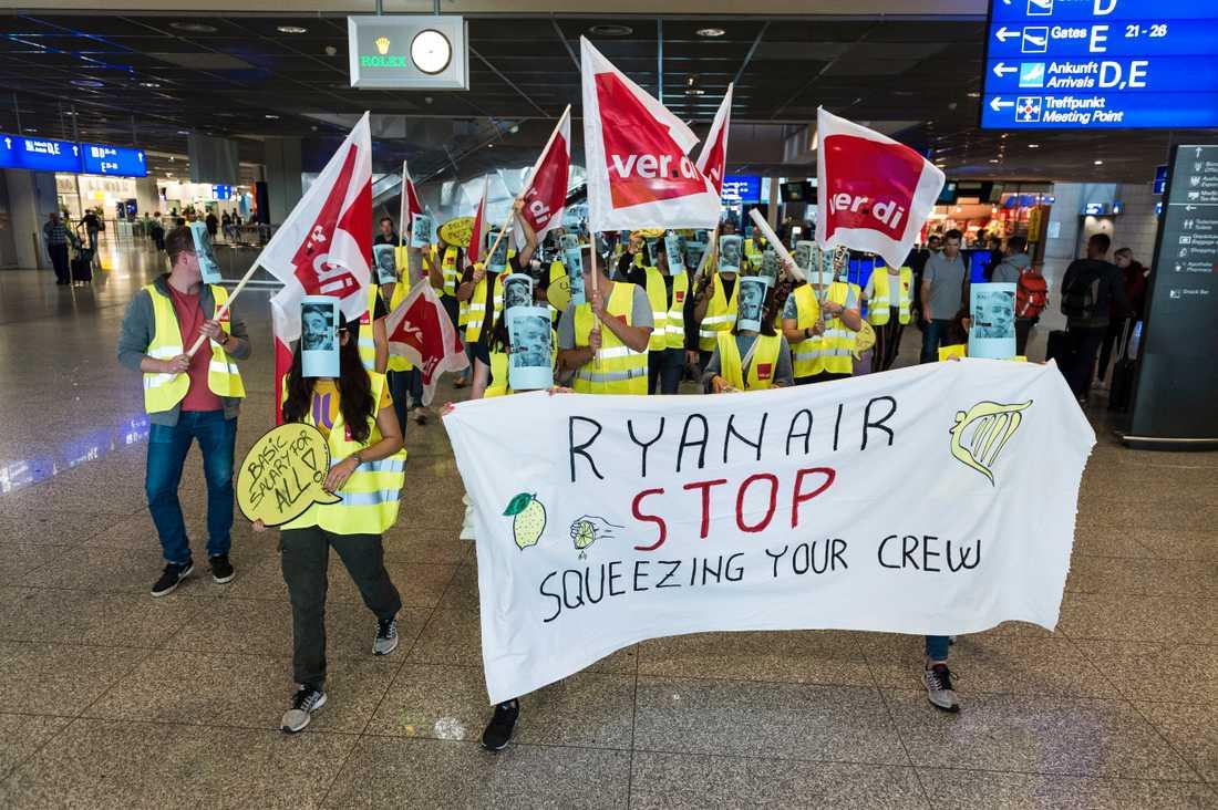 En tidigare Ryanair-strejk.