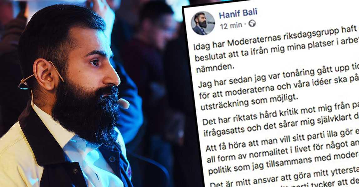 """Hanif Bali efter petningen: """"Klart det sårar"""""""