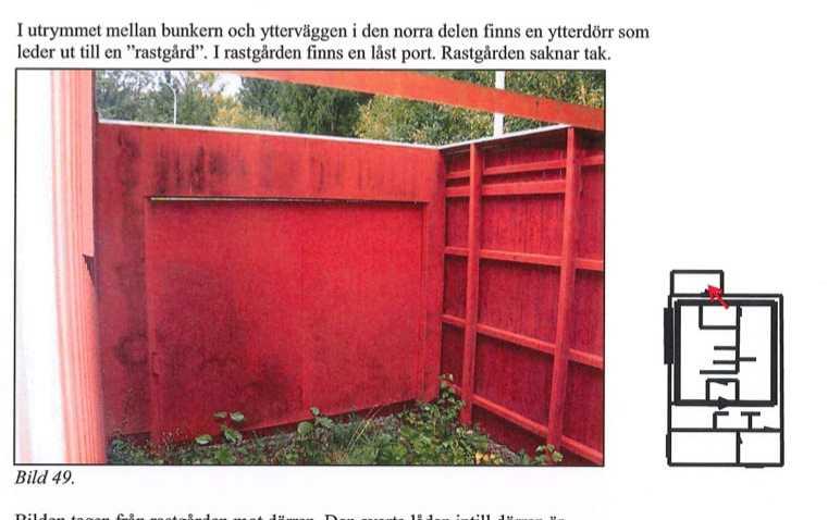 Bunkerns rastgård.