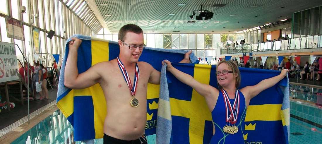 När det var VM i Mexiko för simmare med downs syndrom så satte hon världsrekord på 25 meter bröstsim och fixade även fyra europarekord.
