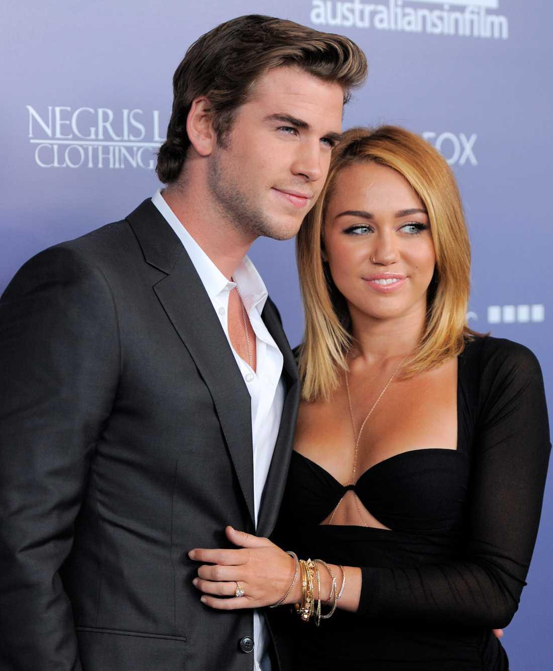 Miley Cyrus och före detta fästmannen Liam Hemsworth.
