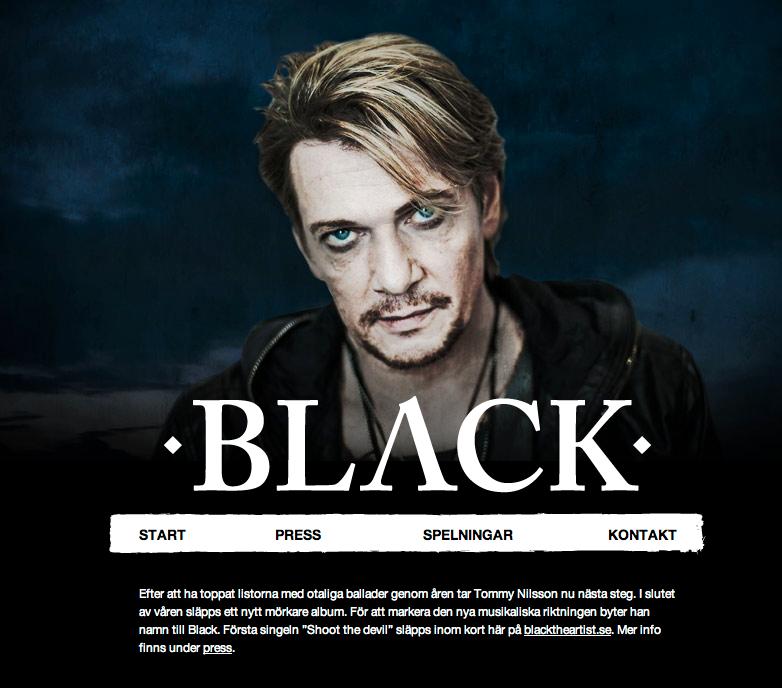 Tommy Nilssons nya sajt – som Black.