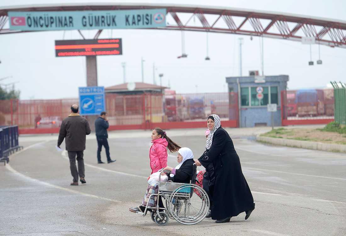 Gränsen mellan Turkiet och Syrien på den turkiska sidan i februari 2016.